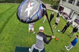 Long Drive Trick Shots – Jamie Sadlowski and Dude Perfect